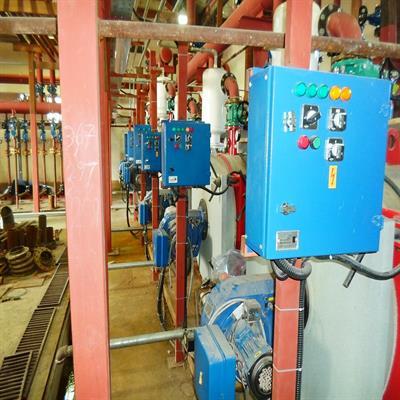 عملیات اجرایی و نصب دستگاهها و تجهیزات موتورخانه پروژه سید الشهدا (ع)